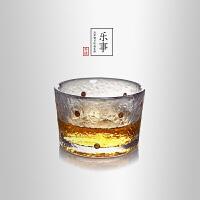 当当优品 锤目纹品茗杯-乐事  光阴系列 点金加厚玻璃茶杯 功夫茶具 45ml