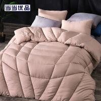 当当优品纤维被 保暖羽丝绒冬被春秋被芯 双人被子200*230cm 粉色