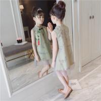 童装女童旗袍连衣裙夏装网纱裙中大童洋气公主裙儿童裙子