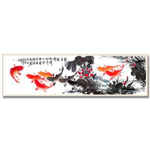 广西省美术家协会会员 何奕勇《连年有余3》