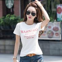 女士短袖t恤棉夏装新款韩版百搭白色�B恤女半袖休闲上衣