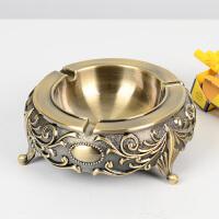 金属烟灰缸创意大号欧式个性时尚烟缸复古客厅奢华茶几摆件装饰品