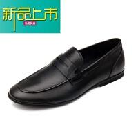 新品上市新款男士英伦韩版真皮套脚商务休闲皮鞋软皮软底懒人牛皮鞋男