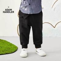 【秒杀价:130元】马拉丁童装男小童裤子春装2020年新款宽松黑色针织长裤儿童裤