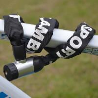 自行车锁链条锁 山地车电动车摩托车锁单车配件防盗装备