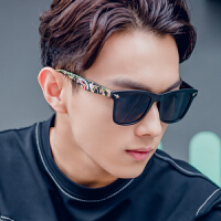 韩国明星款方框男士太阳镜圆脸复古潮人墨镜女个性太阳眼镜潮