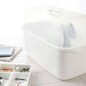Lustroware 原装进口*隔水碗柜 白色 K-1651/W