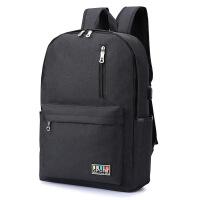 新款涤纶休闲双肩电脑包时尚男女户外旅行大容量学生书包背包书包双肩包电脑包