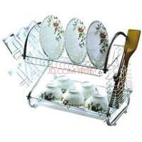厨房S型置物架不锈钢收纳架沥水篮双层沥水架碗碟架多功能晾碗架沥水架碗盘架置物架盘碗筷滴水架