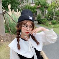 堆堆帽针织毛线帽子女秋冬季头套韩版冬天保暖百搭冷帽潮可爱