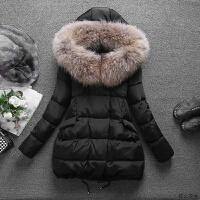 冬季羽绒服女中长款2018新款宽松显瘦韩版大毛领加厚白鸭绒a字潮