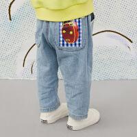 【秒杀价:167元】马拉丁童装女小童裤子春装2020年新款牛仔裤百搭儿童裤子
