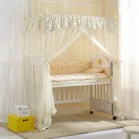 加密婴儿蚊帐落地公主风儿童蚊帐罩婴儿床蚊帐加粗支架宝宝通用