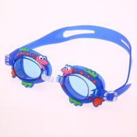 儿童防水防雾泳镜男女中小童宝宝游泳镜平光高清眼镜