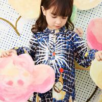 【秒杀价:212元】马拉丁童装女小童连衣裙春装2020新款洋气图案儿童长袖连衣裙