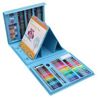 儿童画笔套装绘画水彩笔小学生画画工具文具美术用品女孩生日礼物 176件画架粉色 配手提袋画本
