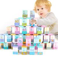 巧之木 100粒汉字多米诺骨牌拼音识图认知积木 儿童早教多米诺