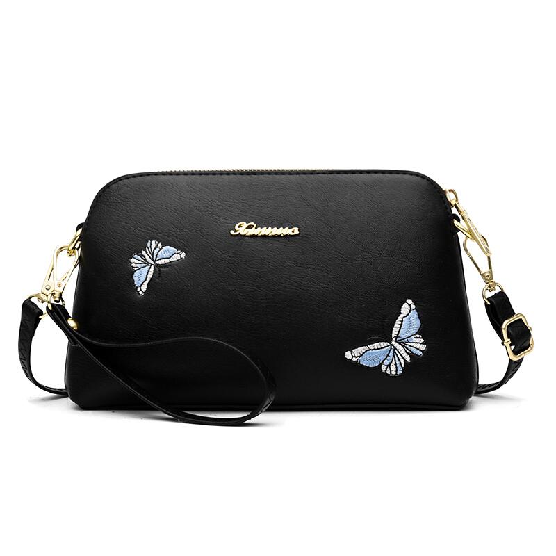 女包单肩包蝴蝶绣花百搭女包单肩斜跨小包  商品的详细款式、颜色及物流信息,请联系在线客服。