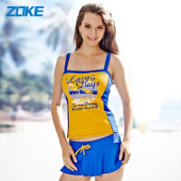 ZOKE洲克新款女士分体裙式游泳衣显瘦小胸保守时尚温泉泳装115501203
