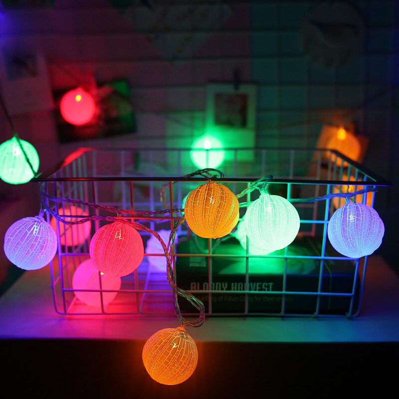 彩灯闪灯串灯南瓜造型灯满天星 室内节日圣诞LED装饰灯