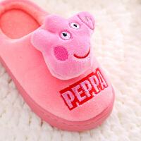 儿童棉拖鞋男女童包跟防滑宝宝室内居家保暖拖鞋