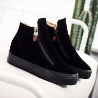 2018冬季新款内增高短靴短筒雪地靴韩版百搭厚底加绒保暖二棉鞋
