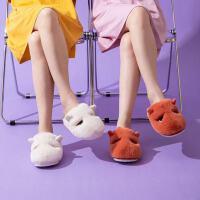 泰蜜熊棉拖鞋女秋冬季厚底可爱家用包跟居家室内情侣毛绒托鞋男保暖家居
