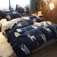 冬季网绒四件套保暖法莱绒床单被套加厚双面法兰绒床上用品定制