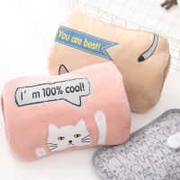 电热水袋充电暖宝宝双插手暖水袋安全电热宝简约毛绒已