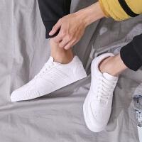 休闲皮鞋男韩版潮流鞋子男板鞋男英伦潮鞋学生小白鞋春季