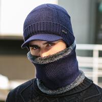 帽子男冬季韩版加绒加厚毛线帽男士冬天户外骑行保暖防风针织棉帽