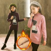 童装5冬装6女童毛线9加绒打底衫儿童7针织衫10岁8小女孩毛衣服112