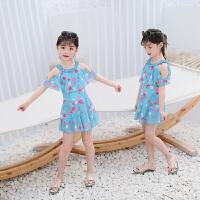 儿童泳衣女孩中大童连体裙式宝宝可爱泳装女童温泉游泳衣