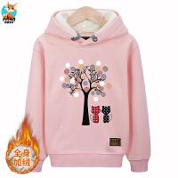 2018新款女童卫衣加绒儿童粉色洋气时髦衣服中大童10-12岁保暖衣9