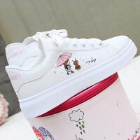 小白鞋女学生原宿平底百搭运动休闲鞋白色春季板鞋