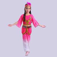新款舞蹈演出服维吾尔族舞台服装少儿儿童舞蹈演出服女