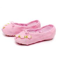 儿童舞蹈鞋夏软底猫爪鞋女舞芭蕾舞鞋粉练功鞋足尖瑜伽鞋