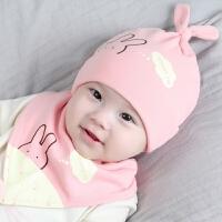 婴儿帽子秋冬0-3-6-12个月初生男童宝宝新生儿帽