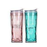塑料随手杯女创意学生便携杯网红水杯大人吸管杯子