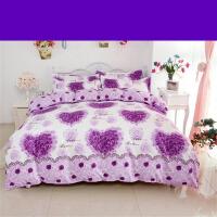 加厚磨毛四件套棉1.8m米床上用品1.5m被套简约床单家纺y 2.0m(6.6英尺)床