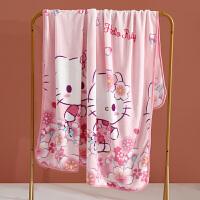 水星出品 百丽丝家纺 Hellokitty卡通萌趣法兰绒毛毯儿童盖毯多功能中厚盖毯儿童床上用品