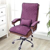 冬季加厚办公室坐垫防滑连体电脑老板椅垫椅子垫靠垫一体躺椅垫