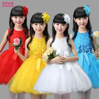 小学生合唱幼儿园表演服装儿童节演出服女童公主裙蓬蓬纱裙