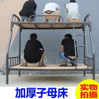 上下铺铁床铁艺床双层高低架子床员工宿舍铁架床学生床 其他