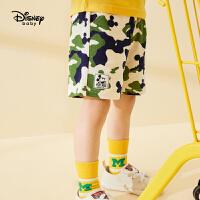 【119元4件】迪士尼童装男童夏季新款探险日记男童针织短裤舒适