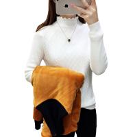 圣诞毛衣女2019新款女装加绒打底衫半高领针织短款加厚修身保暖衣打底衫女毛衣女
