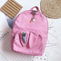 韩版原宿风a书包女高中初中学生可爱少女校园帆布双肩背包