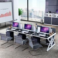 办公家具职员办公桌椅组合 屏风工作位职员办公桌简约现代四人位电脑桌椅组合2/4/6办公家具屏风工作位
