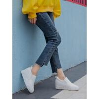 雪地棉靴女短靴2018新款秋冬皮面加绒棉鞋冬鞋内增高女鞋