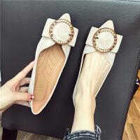 鞋子女韩版英伦女鞋韩版时尚百搭学生女士低帮鞋尖头浅口舒适单鞋